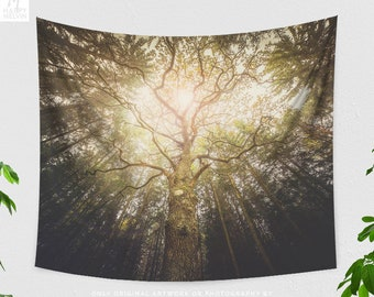 Tree Tapestry, Forest Wall Tapestry, Tree Tapestry, Nature Wall Hanging, Boho Wall Decor, Nature Photography, Dorm Decor, Gift, Indie