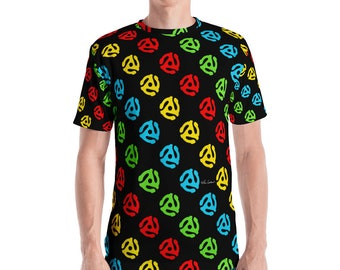 45 Spindle Adapter Allover Print Men's T-shirt