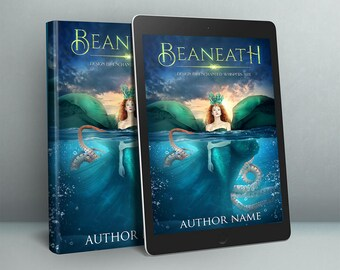 premade sea witch fantasy cover design for ebook or paperback