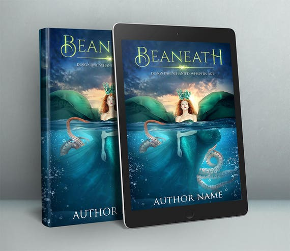fanatsy sea Witch siren premade cover art design