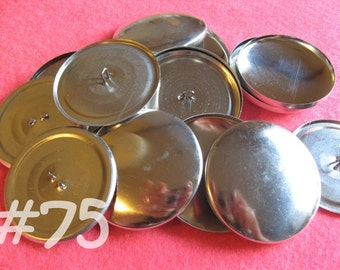Size 75 - 50 Cover Buttons - 1 7/8 inches wire backs/loop backs covered buttons notion supplies diy refill