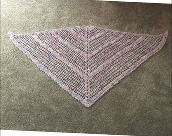 Long Island Girl Triangle Shawl CROCHET PATTERN