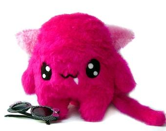 Big Fluse Kawaii Plush Cat Neon Pink