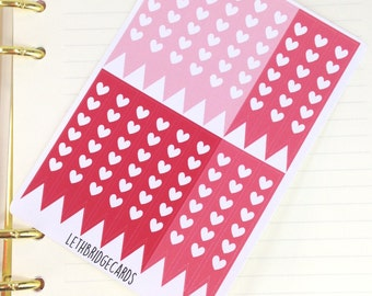 Red Happy Planner size heart checklist stickers; Filofaxing; Cute Stickers; Kawaii Stickers; Colour Coding; Planner Sticker; Plum Paper