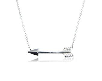 Arrow Necklace, Solid Sterling Silver • A Best Seller Arrow Necklace • Dainty and Made to Last