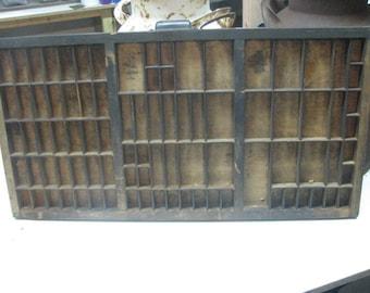 Vintage Printer Drawer,Letterpress Tray. 322