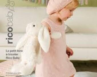 RICO BABY Petit livre à tricoter 19 designs pour bébé de 3 mois à 3 ans en coton soft et print 019