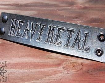 """Heavy Metal """"Steel"""" Cuff"""
