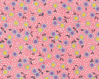 Bunny Tales Pink Floral 30's Reproduction 14801-122 from Robert Kaufman by the yard