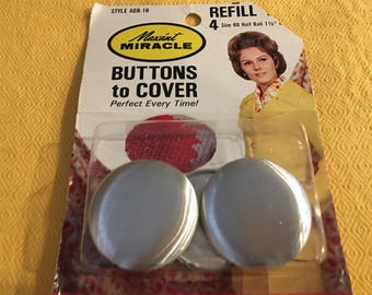 Vintage Maxant Miracle Buttons to Cover Large size 4 buttons