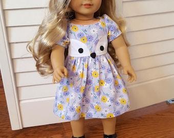 Friendly Fox Dress for American Girl doll or similar 18 inch Doll