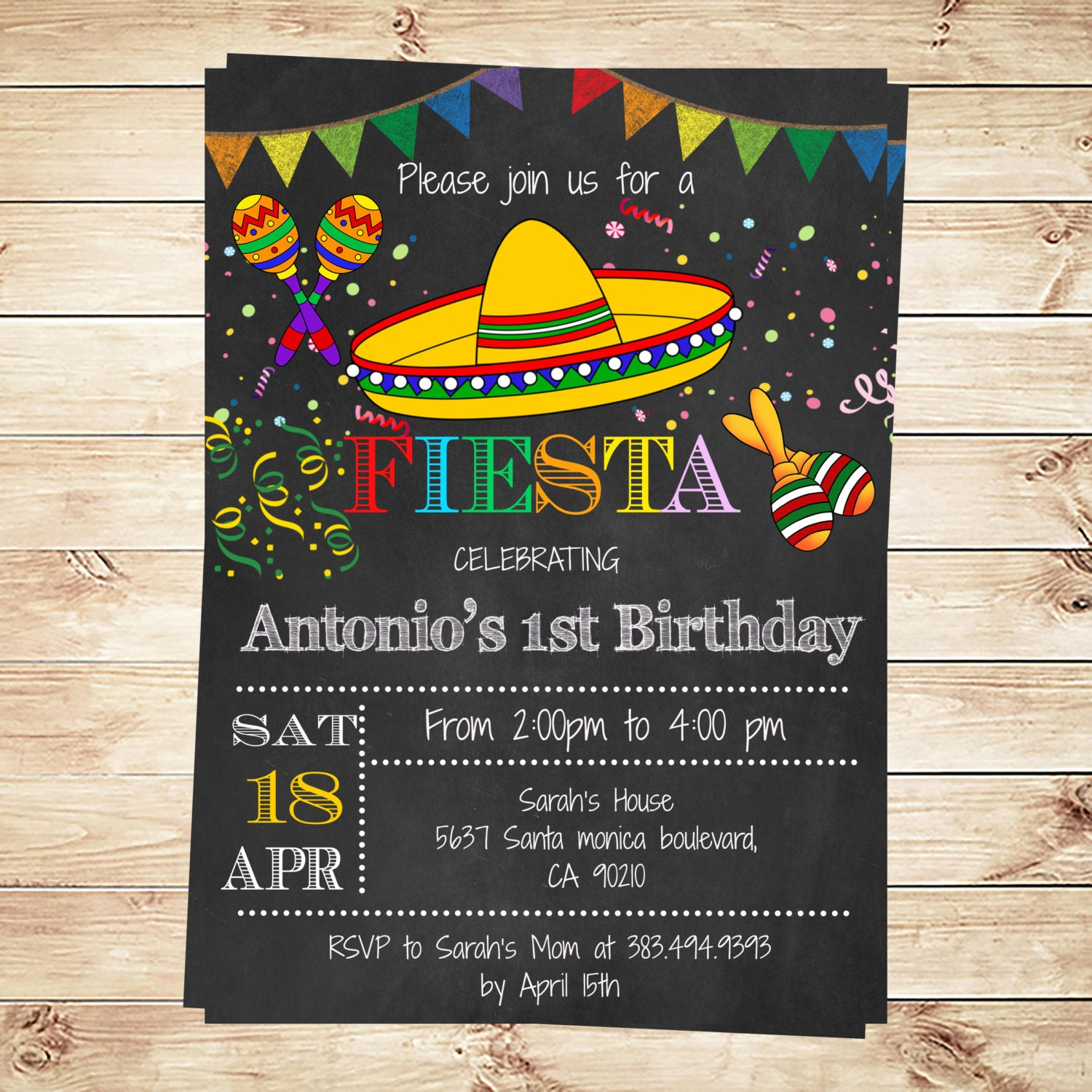 This is a graphic of Zany Free Printable Fiesta Invitations