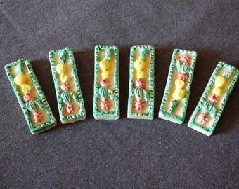 French porcelain knife rests x 6