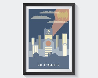 Gotham City in Art Deco