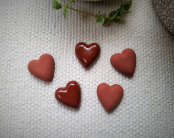 Chocolate heart magnets, valentines magnets, valentines gift, refrigertor magnets