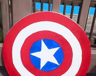 Captain Sheild with the Colors of America!