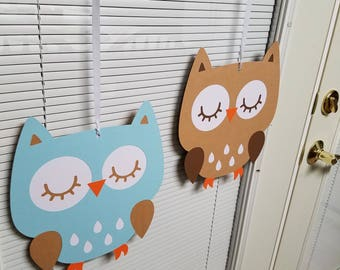 Owl ceiling hanger, Owl baby shower, Owl birthday, Owl decorations, Owl birthday party