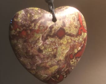 Blood Moss Agate Pendant Necklace