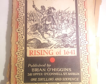 Rising of 1641 Used Rare out of Print Irish  1951 Iris Teoin, Wolfe Tone Annual