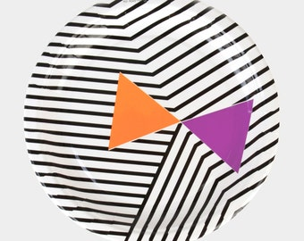 8 Halloween paper plates / HALLOWEEN PARTY