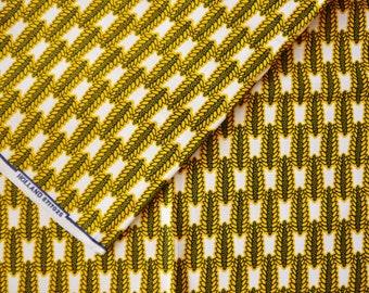 Yellow corn print african wax print cotton