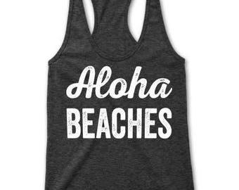 Aloha Beaches Racerback Tank Top