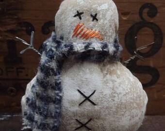 Primitive Snowman Christmas Ornament Snowman Decor Snowman Bowl Filler