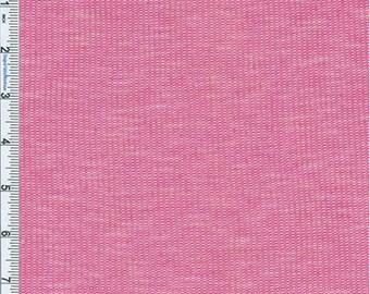 Magenta Slub Novelty Thermal Jersey Knit, Fabric By The Yard