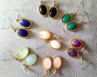 "Dangle earrings. ""Gemstones Drops"""