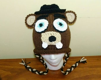 Freddy FNAF Hat, Freddy Five Nights at Freddy's Crochet Hat