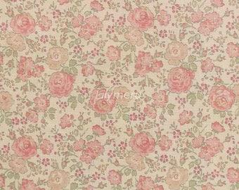 Liberty tana lawn printed in Japan - Felicite - Flamingo pink