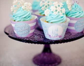 Frozen Cupcake Wrappers- Printable