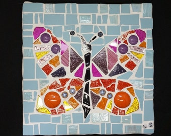 butterfly mosaic tile
