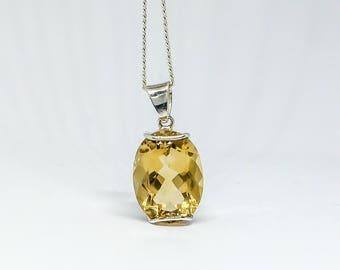 Female pendant, CITRINE, on 925 sterling silver