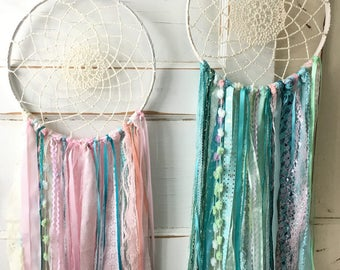 "Dream Catcher for Party and Room Decor.  YOU choose the Colors to Match any Party Theme or Room Decor. Handmade 12"" diameter dreamcatcher"
