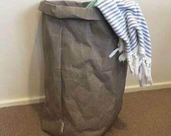 Washable Paper Basket JUMBO Washable Paper Plant Holder laundry Basket Laundry Hamper Eco Bag Paper Bag Washable paper bag
