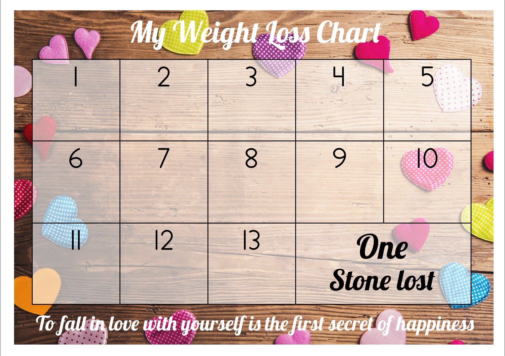 Weight loss chart tracker 1 stone comes with star description weight loss chart tracker nvjuhfo Choice Image