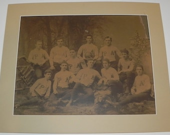 Fantastic Circa 1883 Phillips Andover Academy Football Team Imperial Sized Cabinet Photograph - Antique Football Memorabilia