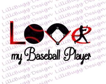 Love My Baseball Player svg