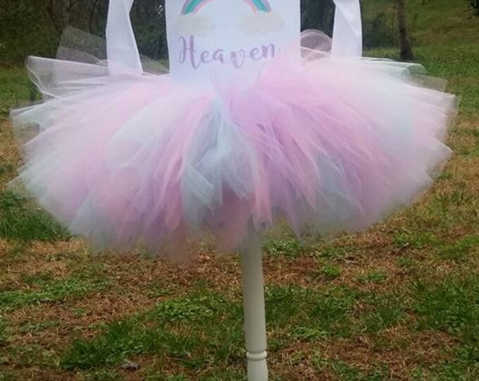 Unicorn Birthday Shirt Tutu outfit rainbow baby Handmade Tulle Skirt Personalized Customized pastel magical one