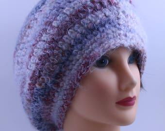 Hand knitted Beanie, Slouchy, Boho-chic, Oversized,  Unisex