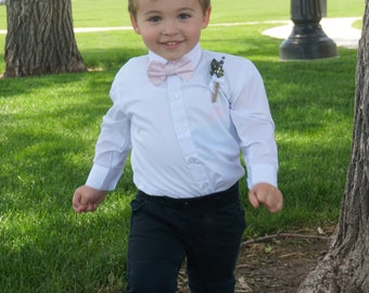 Ring Bearer's  Lavender Boutonniere - Stunning & Bold