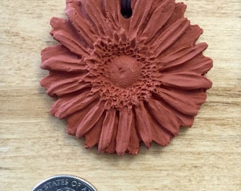 Clay Sunflower Diffuser Necklace
