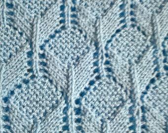 Hand knit baby blanket in cloud blue, hand knit, baby blanket, baby shower gift, newborn gift, stroller blanket.