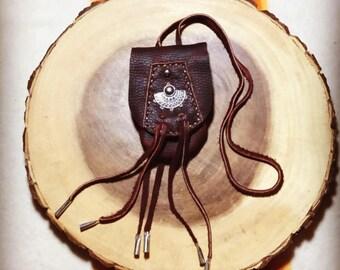 Mahogany Medicine Pouch Medicine Bag