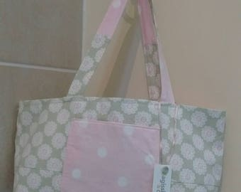 Pink and green patchwork bag
