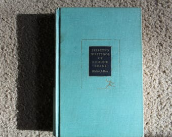 Vintage, Teal, 1960, Selected Writings of Edmund Burke, very good condition