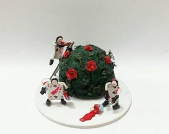 Alice in Wonderland red rose painters
