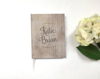 Wedding Guest Book - Wedding Guestbook - Custom Guest Book - Personalized Guestbook - Rustic Wedding Keepsake - Woodsy Guestbook