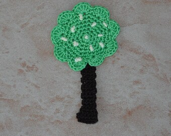 tree yellow fruits crochet height 7.5 cm